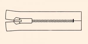 Muovihammas vetoketju Coats Opti 6mm, 26cm-32cm, umpivetoketju, väri: 8201