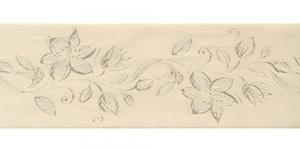 Jacquard satin ribbon, Art.64968, color No.Ecru
