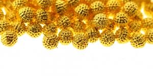 ø5mm Kuldne, aukudeta plasthelmes, BV7