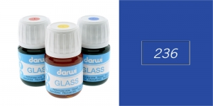 Klaasivärv Darwi Glass, 30ml, DARK BLUE 236