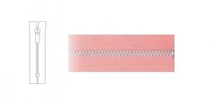 1324NI, 4mm hammastikuga metall-tõmblukk pikkusega 21cm-22cm, vanaroosa, nikeldatud hammastikuga