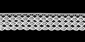 Puuvillane servapits 3695-01 laiusega 2,5 cm, värv valge