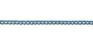 Puuvillane pits 3840-09 laiusega 1 cm, värv hallikassinine