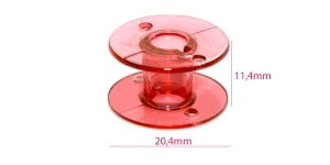 Plastic Bobbin for Home Sewing Machines pink