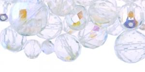 LL2 6-16mm Värvitutest AB-kattega ümaratest pärlitest segu