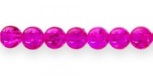 KE23 8mm Fuksiaroosa mõraline klaashelmes
