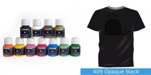 Fabric Paint Opaque, 50 ml, Vielo #409 Opaque black