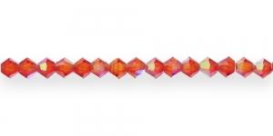 GR17 3mm Marjapunane läbipaistev AB-kattega tahuline klaas 16tk