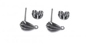 Kõrvarõnga toorikud Hematiit / 15 x 7 x 5mm / EC109
