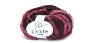 Karvase servaga sallilõng Shape Linie 316; Värv 0005 (Tumepunane koos veinipunasega) / ONline