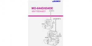 Kasutusjuhend / Käyttöohjekirja FIN Juki MO-644D (myydään vain konekaupan yhteydessa)