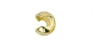 Pärlipiduri katted, Kullatud, 5mm, 349A-013