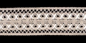 Puuvillane pits K-5011.L3 laiusega 5,5 cm, värv hall valgega