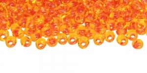 4mm-E-388 Kollased, läbipaistvad, seest oranžid Magatama TOHO helmed, suurus: 4mm, värv: 388