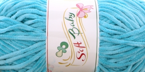 Sametlõng Soft Baby, Madame Tricote, Värv 509 Hele türkiissinine