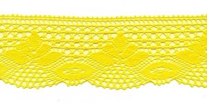 Puuvillane pits 3185-13 laiusega 7 cm, värv kollane