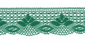Puuvillane pits 3185-12 laiusega 7 cm, värv roheline