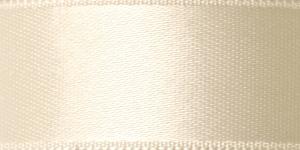 Kahepoolne luksuslik atlaspael laiusega 20mm / Art.2468 / Double Sided Satin Ribbon / värv nr. 790 Kreemjasvalge