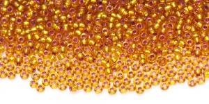Terahelmed, seemnehelmed, Nr.10 (2,2-2.4 mm), Pruunikasoranžid hõbedase, läikiva auguga, HG82A
