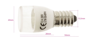 (Sewing Machine) LED Bulb with standard E14 socket 4LED 0,7W/220V
