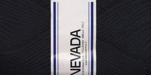 Poolvillane lõng Nevada; Värv 1210 (Must), Lane Cervinia