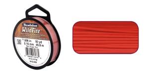 Termiliselt töödeldud tugev niit WildFire ø0,15 mm; 45,8 m, värv: punane, Beadalon 161D-008