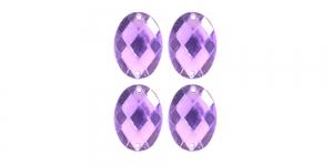 WF13A 25x18mm Helelilla tahuline ovaalne õmmeldav kristall 4tk