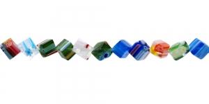 KM54 6mm Värvisegu millefiori pärlitest 20tk