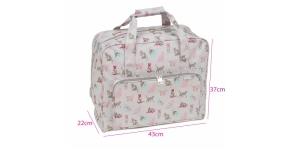 Kovapohjainen laukku kookkaan ompelukoneen mitoissa, Cats (Matt PVC), (d/w/h): 20 x 43 x 37 cm, Hobby Gift MR4660\494