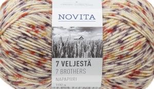 Villasisaldusega sokilõng 7 Veljestä Napapiiri, Novita, värv, 872