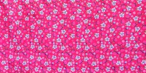 145cm Fuksiaroosa, kirju lillemustriga, puuvillane kangas, KC2802-521