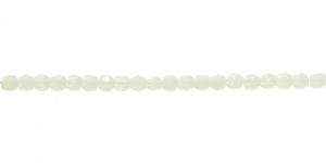 LA27 Ümar tahuline klaaspärl, Tšehhi, 3mm, Hele rohekaskollane piimjas