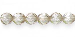 LH14A Ümar tahuline klaaspärl, Tšehhi, 14mm, Helebeež kõrgläikega läbipaistev