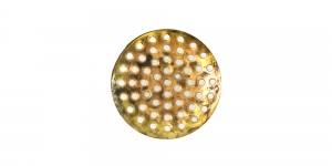 Ehtesõel Antiikkuldne, Antique Golden Circular Brooch Base, 25mm, EB40