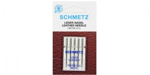 Leather Needles for Home Sewing Machines Schmetz, No. 80 (12)
