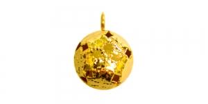 Kuldne, metallist kuljus, 17 x 12 x 11mm, YA31