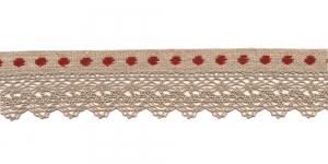 Puuvillane pits paelaga T134 -6R laiusega 3,5 cm