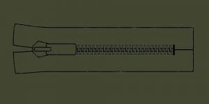 Молния тракторная Coats Opti 8mm, 17-18см, неразъёмная, цвет: 5790