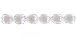 Värvitu seest valge läbipaistev akrüülhelmes, piklik, 8x10mm, AA36