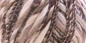 Metallikuga efektilõng Jamalia, Austermann, värv nr. 2, pruun beežiga