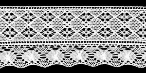 Puuvillane servapits laiusega 12cm Art.T080-01, värv valge