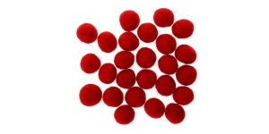 Handmade Felt Ball 25 pcs set, ø15 mm - 17 mm, Nepal wool, Habico, HF118_XMAS_RED