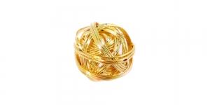 Metallist põimingdetail Kuldne, 17mm, EG14