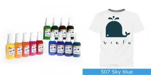 Spreivärvid kanga värvimiseks/ Fabric Paint Spray, 50 ml, Vielo, Värv: tume türkiissinine, #507 Sky blue