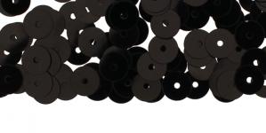 YB29c/ Lamedad kettakujulised plastlitrid / Läikiv must / ø6mm