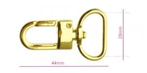 Karabiinhaak paela laius 20 mm, SH1042-G, pinnatud: kuldne, kõrgläikega