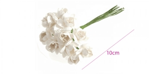 Blossom Flowers: Paper: 18mm: Pack of 12pcs, Bridal B2150WH