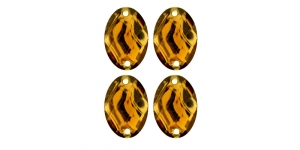 WF23 18x13mm Helepruun, tahuline ovaalne akrüülkristall, 4tk