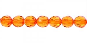 AG42 8mm Oranž läbipaistev akrüülkristall