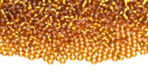Terahelmed, seemnehelmed, Nr.11 (2-2.2 mm), PreciosaKuldpruunid hõbedased, läikivad auguga terahelmed, HD1